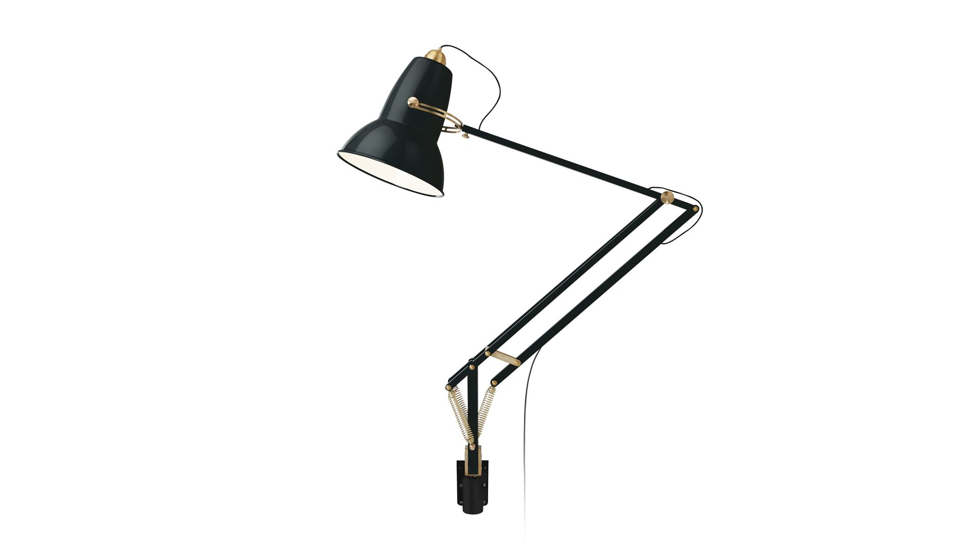 Nástěnná lampa Original 1227 Giant Messing Schieffer Black