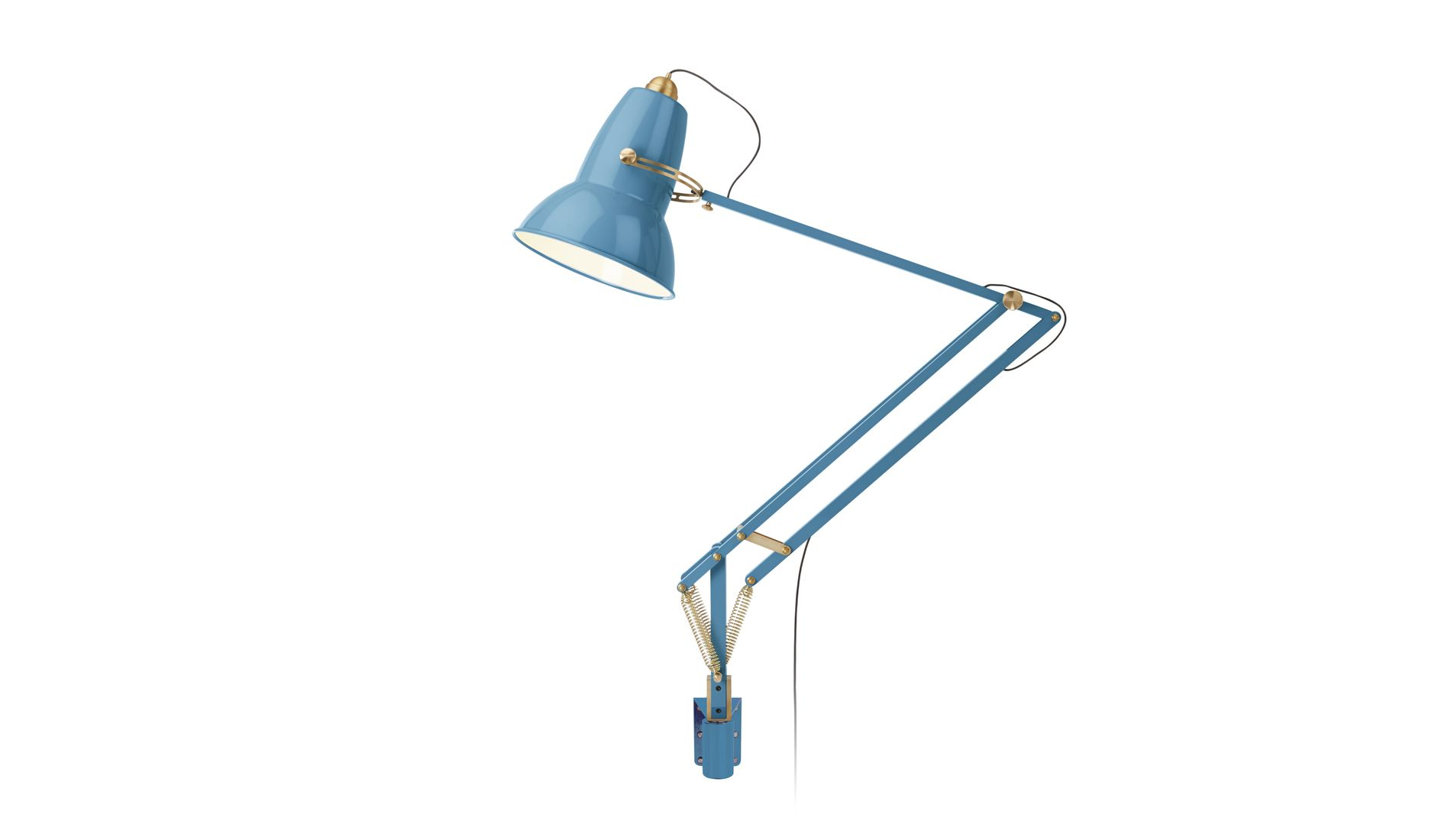 Nástěnná lampa Original 1227 Giant Messing Stau Blue