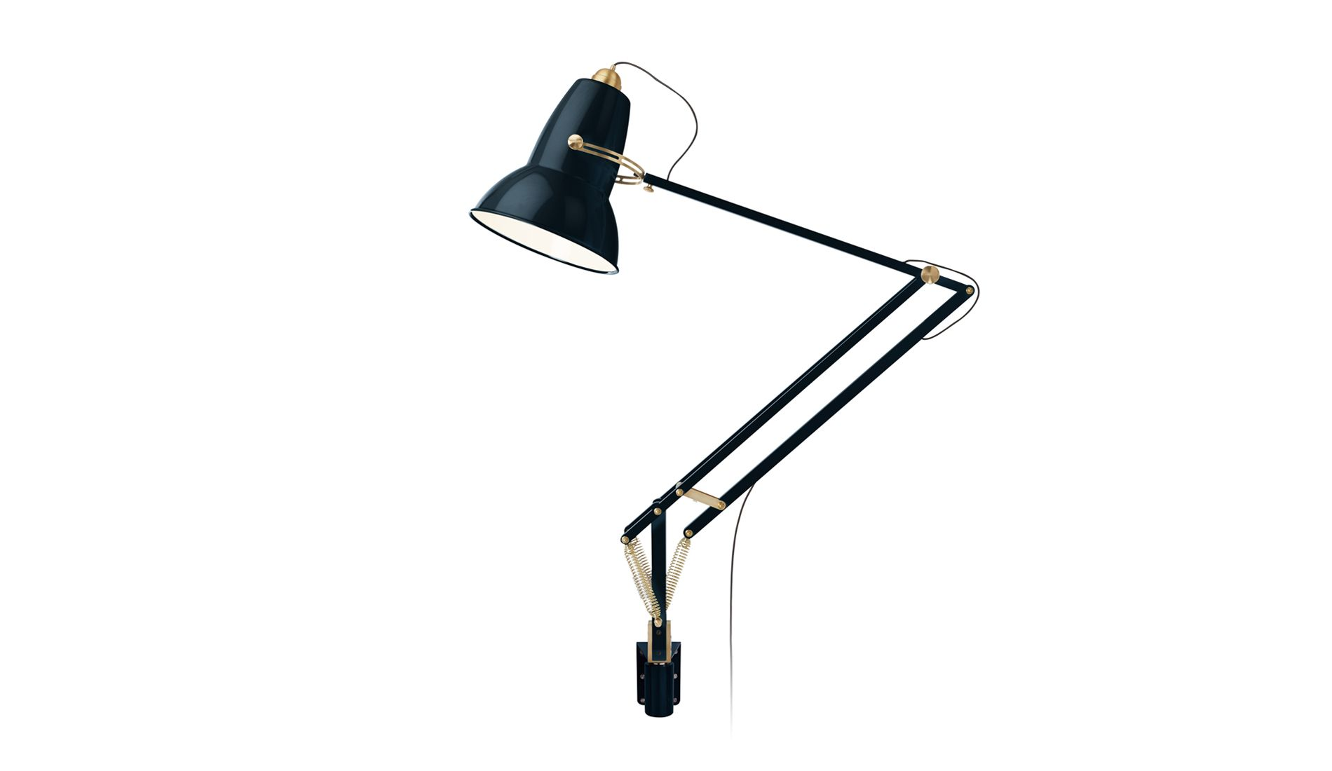 Nástěnná lampa Original 1227 Giant Messing Tint Blue